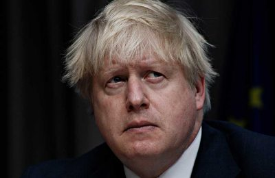 Boris Johnson set up a tent on someone else's land and angered a farmer